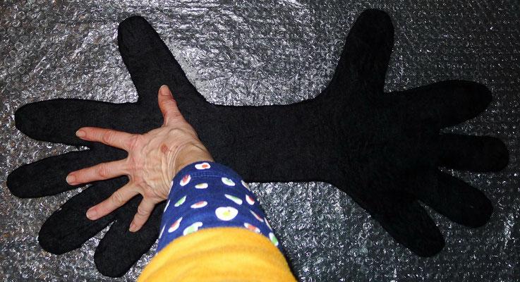 Gefilzte Handschuhe Felted Gloves