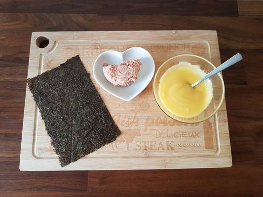 Nori algue mayonnaise maison thon