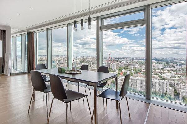 """ID 035 Башня """"Санкт-Петербург"""" - 3х комнатный видовой апартамент в аренду на длительный срок!"""