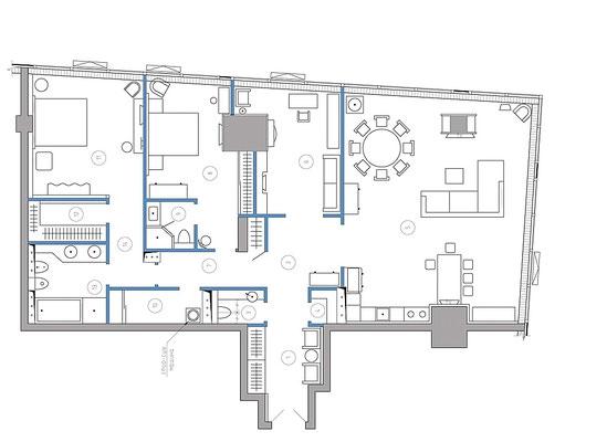ID 081 Башня Москва - 4х комнатный апартамент в аренду.
