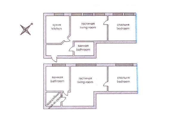 ID 0450 1й Колобовский переулок дом 10 аренда двухуровневой квартиры.