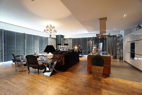 ID 047 Город Столиц - Башня Санкт-Петербург трехкомнатный апартамент в аренду.