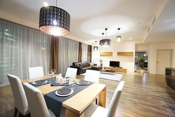 ID 074 ЖК Город Столиц башня Москва - трехкомнатный апартамент в аренду.