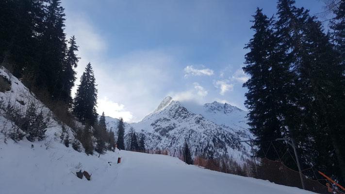 Schneelage Defereggental