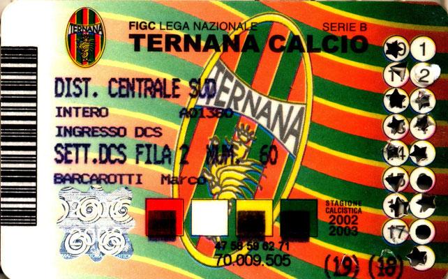 2002-03. Abbonamento (Marco Barcarotti)