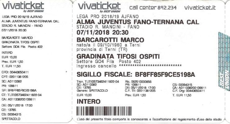 2018-11-07. Fano-Ternana 0-1