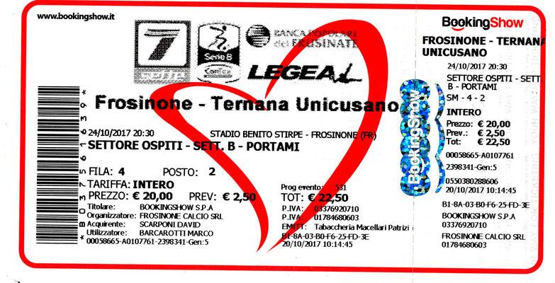 2017-10-21. Frosinone-Ternana