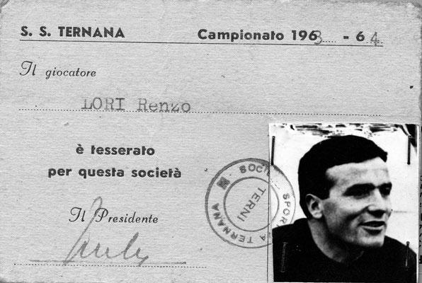 1963-64. Cartellino di Lori  Renzo