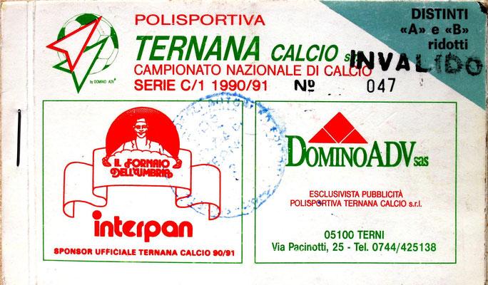 1990-91. Abbonamento (Brusi)