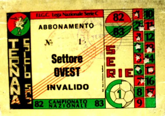 1982-83. Abbonamento (Brusi)