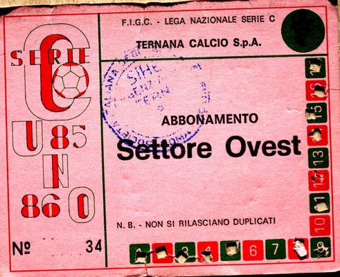 1985-86. Abbonamento (Brusi)