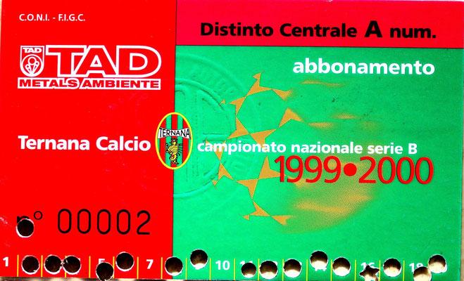 1999-00. Abbonamento (Brusi)