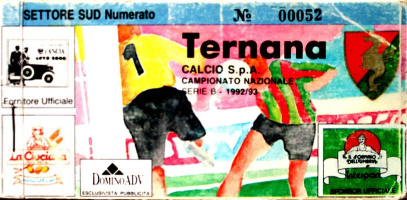 1992-93. Abbonamento (Brusi)