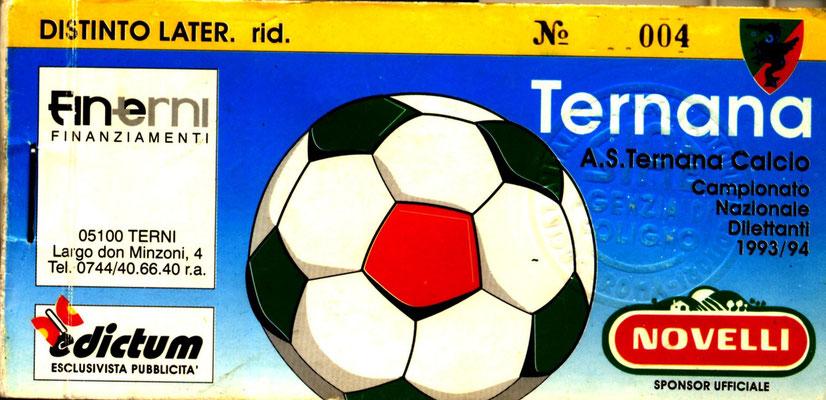 1993-94. Abbonamento (Perego Leonardo)