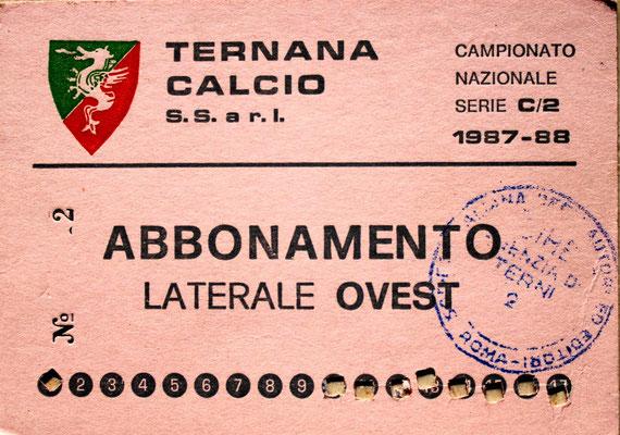 1987-88. Abbonamento (Brusi)