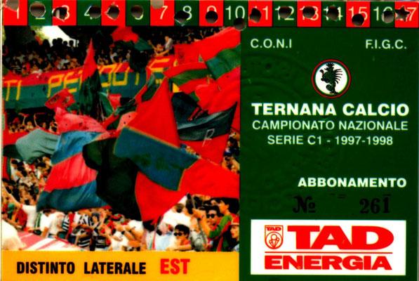 1997-98. Abbonamento (Perego Leonardo)