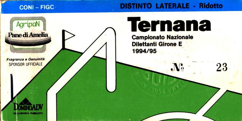 1994-95. Abbonamento (Perego Leonardo)