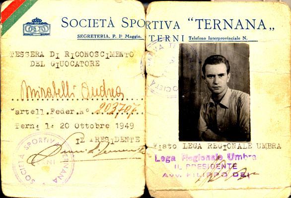 1949-10-20. Cartellino di Mirabelli Andrea
