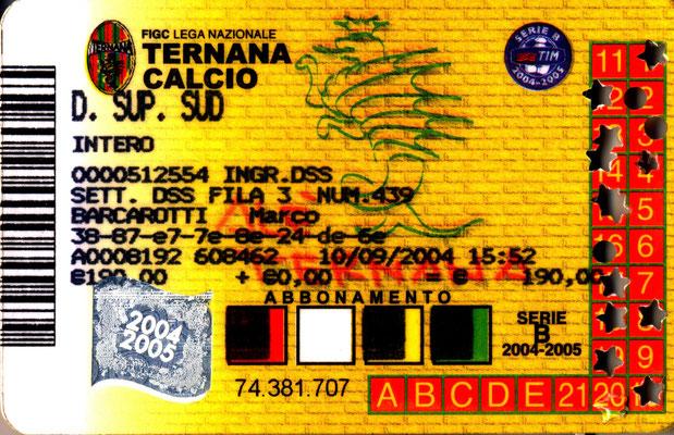 2004-05. Abbonamento (Marco Barcarotti)