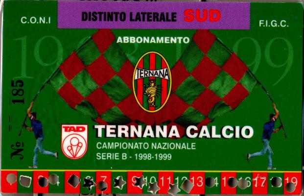 1998-99. Abbonamento (Marco Barcarotti)