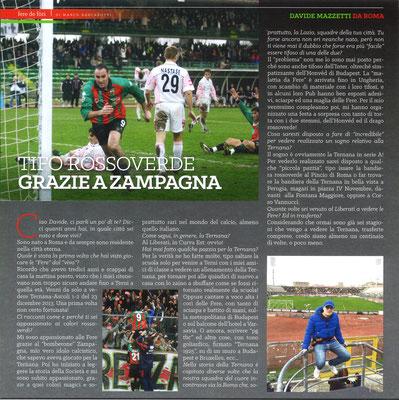 """2018-04-07. DAJE MO'! Il mio articolo della rubrica """"FERE DE FòRI"""", dedicato ai tifosi rossoverdi non ternani: Davide Mazzetti"""