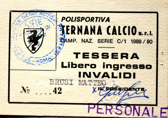1989-90. Abbonamento (Brusi)