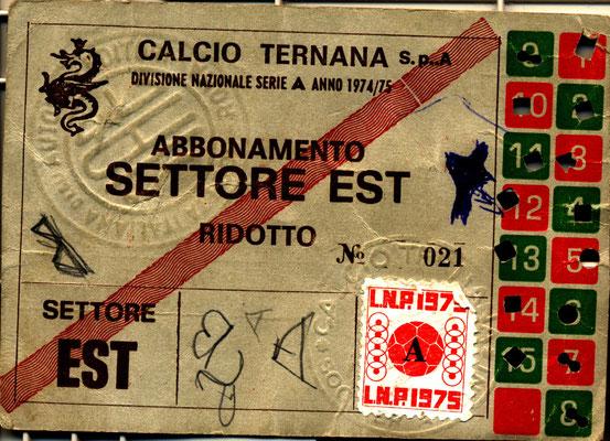 1974-75. Abbonamento (Marco Barcarotti)