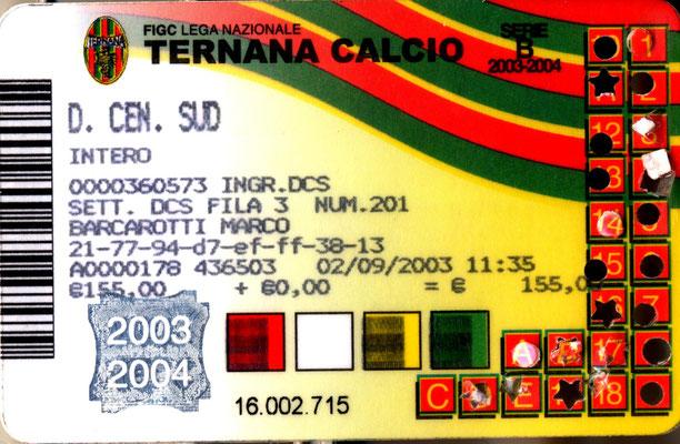 2003-04. Abbonamento (Marco Barcarotti)