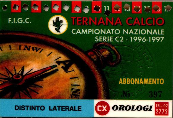 1996-97. Abbonamento (Marco Barcarotti)