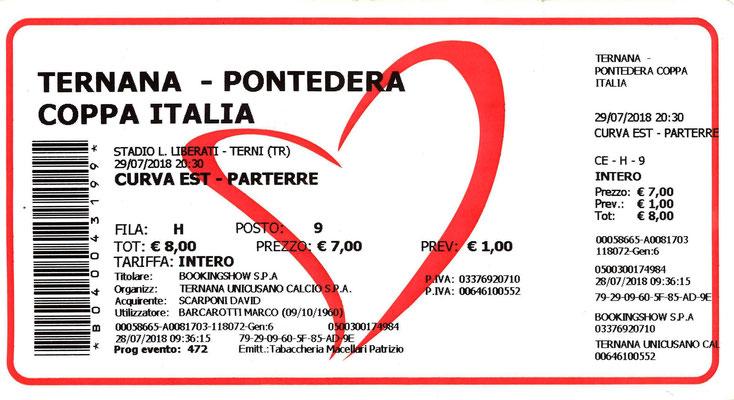 2018-07-29. Ternana-Pontedera (Coppa Italia) 4-2 (d.c.r.)
