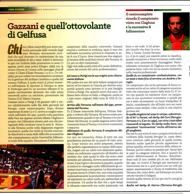 2019-02-16. DAJE MO'! Il mio articolo dedicato a Valerio Gazzani (Parte 1). La versione integrale dell'intervista si può leggere al seguente link: http://www.ternananews.it/focus/incontro-con-un-ex-rossoverde-valerio-gazzani-46517