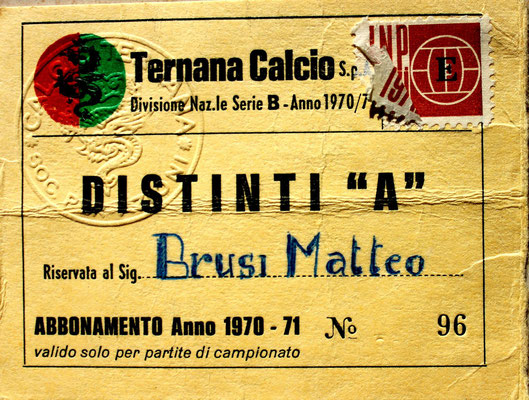 1970-71. Abbonamento (Brusi)