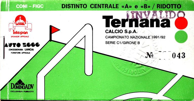 1991-92. Abbonamento (Brusi)