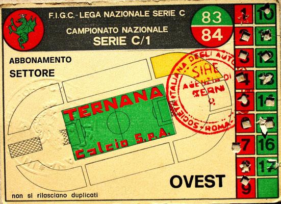 1983-84. Abbonamento (Brusi)