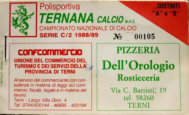 1988-89. Abbonamento (Brusi)
