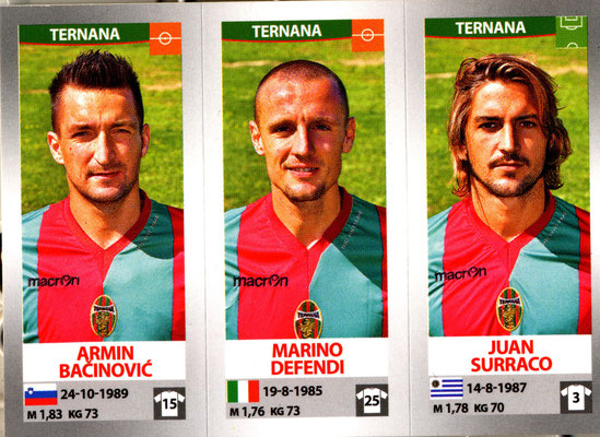 2016-17. Figurine Panini. Bacinovic-Defendi-Surraco