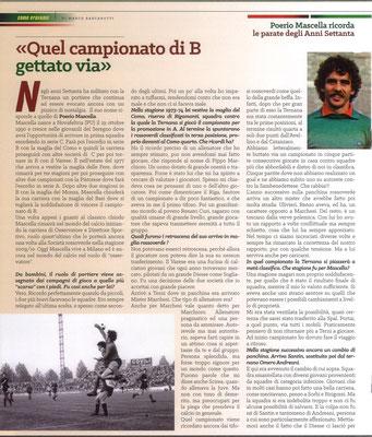 2020 Gennaio. DAJE MO'! Il mio articolo dedicato a Poerio Mascella (Parte 1). La versione integrale dell'intervista si può leggere al seguente link: http://www.ternananews.it/focus/incontro-con-un-ex-rossoverde-poerio-mascella-51154