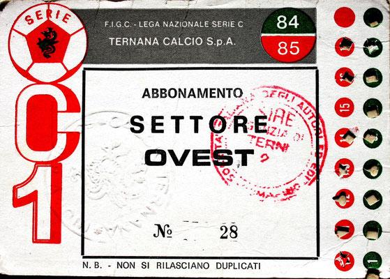 1984-85. Abbonamento (Brusi)