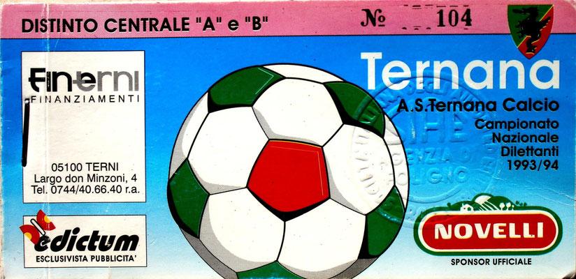 1993-94. Abbonamento (Brusi)
