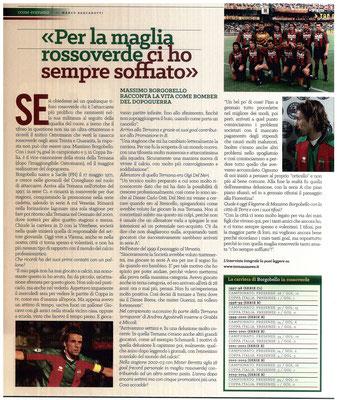 2017-04-08. DAJE MO'! Il mio articolo dedicato ad Massimo Borgobello. La versione integrale dell'intervista si può leggere al seguente link: http://www.ternananews.it/focus/borgobello-per-la-maglia-rossoverde-ci-ho-sempre-soffiato-32769