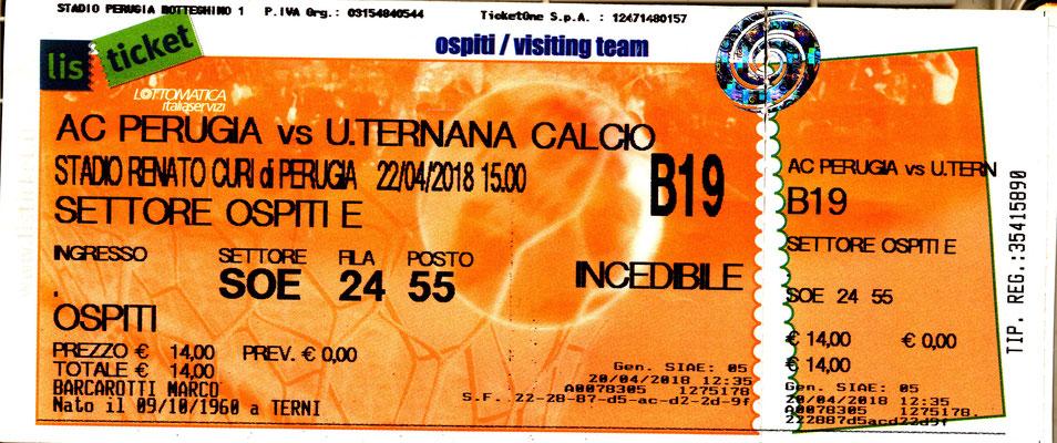 2018-04-22. Perugia-Ternana 2-3