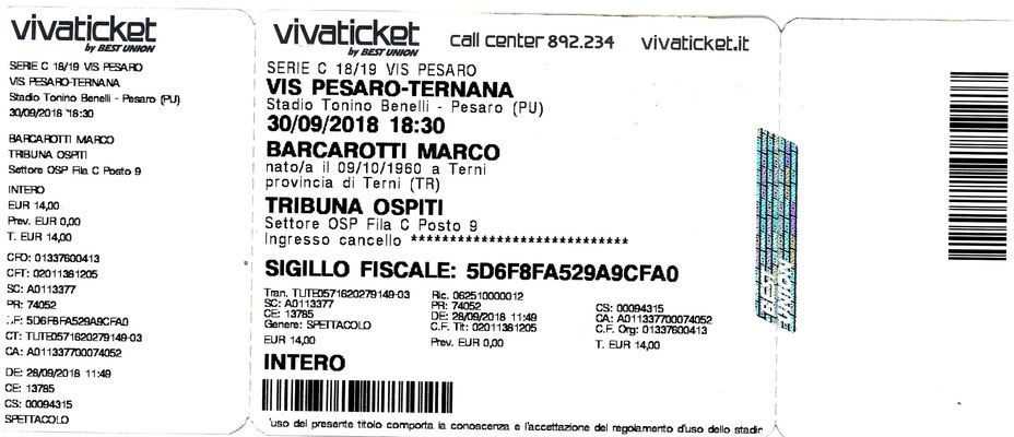 2018-09-30. Vis Pesaro-Ternana 0-0