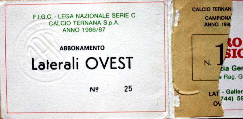 1986-87. Abbonamento (Brusi)