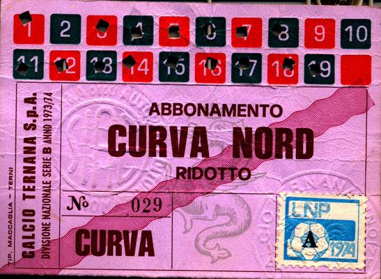 1973-74. Abbonamento (Marco Barcarotti)