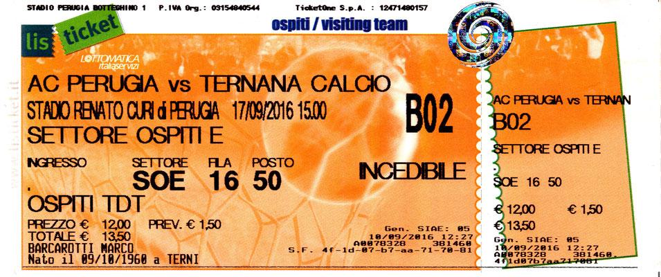 2016-09-17. Perugia-Ternana 1-1