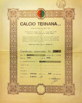 1971-04-02. Azione Ternana Calcio S.p.A.