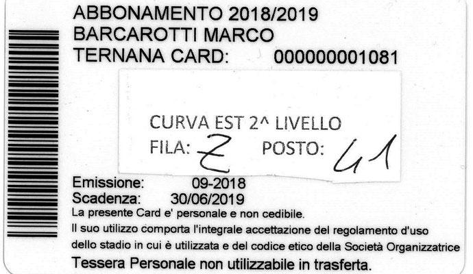 2018-19. Abbonamento (Marco Barcarotti) (lato b)