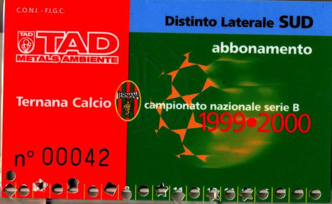 1999-00. Abbonamento (Marco Barcarotti)