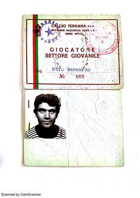 1977-78. Cartellino di Neto Bernardo (Giovanili)
