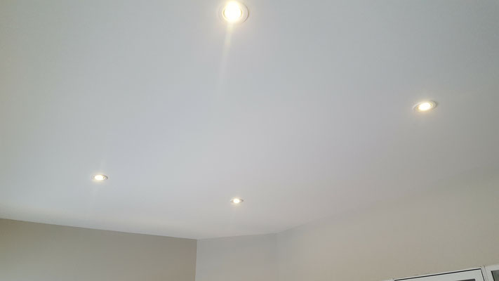 Three season room addition flat ceilings